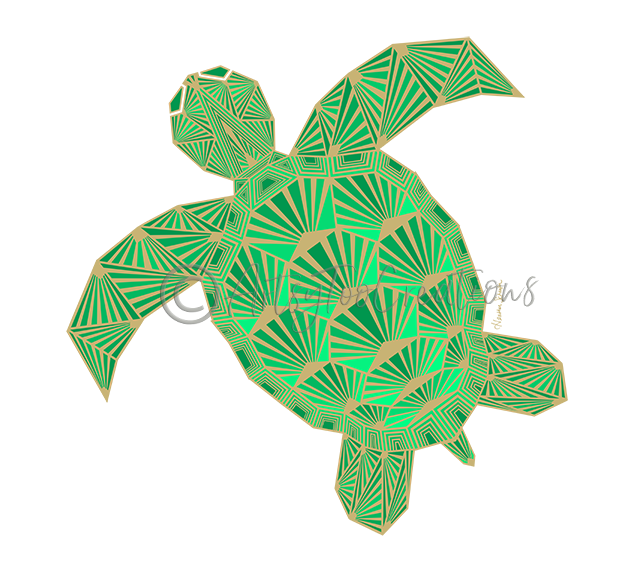 Art Deco Turtle