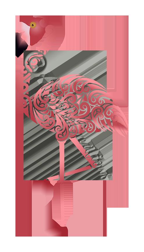 Tribal Pink Flamingo